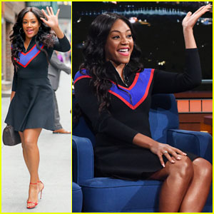 Tiffany Haddish Jokes About Being 'White on Paper' During Hilarious 'Late Show' Interview - Watch Here!