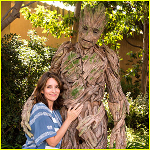 Tina Fey Meets Groot at Disney's California Adventure!