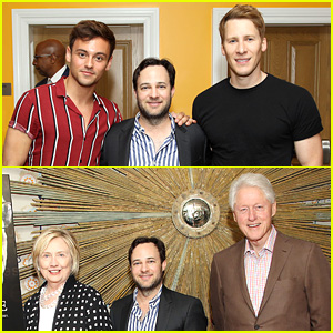 Tom Daley & Dustin Lance Black Join the Clintons at 'Rebel in the Rye' Screening