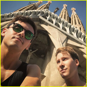 Tom Daley & Dustin Lance Black Share Honeymoon Photos!