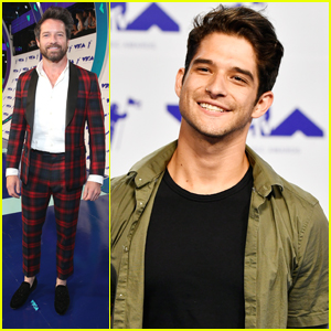 Teen Wolf's Ian Bohen Wears Tartan Suit To MTV VMAs 2017
