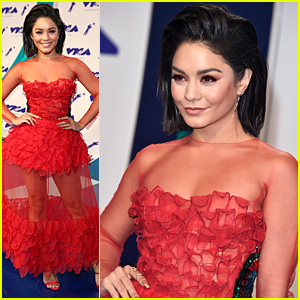 Vanessa Hudgens Is Red Hot with Short Hair at MTV VMAs 2017