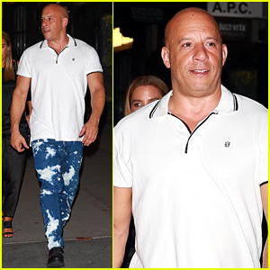 Vin Diesel Sports Paint-Splattered Jeans for NYC Dinner Outing