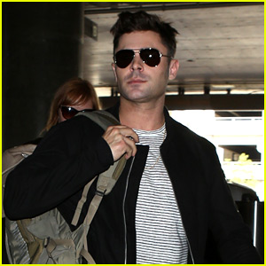 Zac Efron Catches a Flight Out of Los Angeles