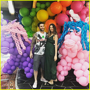 Adam Levine & Behati Prinsloo's Daughter Dusty Rose Had a Colorful First Birthday Party!