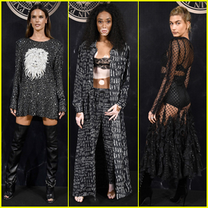Alessandra Ambrosio Joins Winnie Harlow & Hailey Baldwin at Balmain Party in Paris