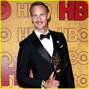 Alexander Skarsgard Shares Photo of Jack McBrayer with His Emmy!