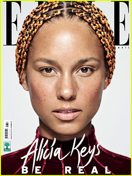 Alicia Keys Goes Bare Faced on Four Beautiful 'Elle Brazil' Covers