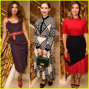 Priyanka Chopra, Alison Brie & America Ferrera Step Out at Glamour x Tory Burch Event