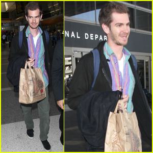 Andrew Garfield Gets Colorful While Heading Back to LA!