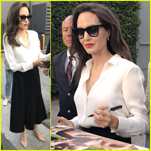 Angelina Jolie Meets Fans After Question & Answer Event!