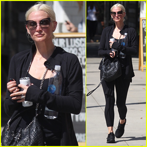 Ashlee Simpson Starts Off Her Day at the Gym