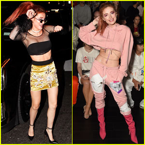 Bella Thorne Dances in the Street on Night Out in New York City