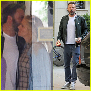 Ben Affleck Gives Lindsay Shookus an After-Work Smooch