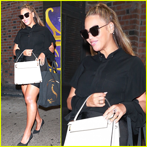 Beyonce Checks Out 'Aladdin' on Broadway in NYC!