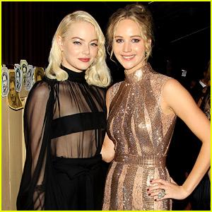 BFFs Jennifer Lawrence & Emma Stone Reunite at 'mother!' Premiere Party!