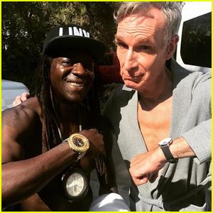 Bill Nye Hang Poolside With Flavor Flav & Sex Pistols Guitarist!
