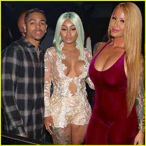 Blac Chyna Parties With Amber Rose & Boyfriend Mechie in Hollywood!