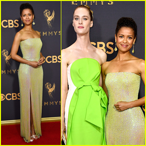 Black Mirror Stars Gugu Mbatha-Raw & Mackenzie Davis Shine at Emmys 2017
