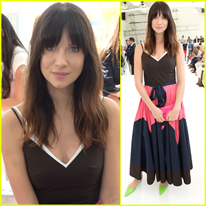 Caitriona Balfe Sits Front Row at Delpozo NYFW Show