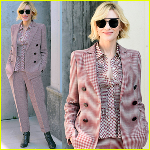 Cate Blanchett Gets Chic For Armani Show During Milan Fashion Week