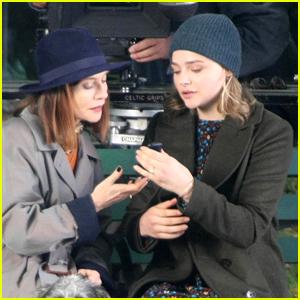 Chloe Moretz & Isabelle Huppert Begin Filming 'The Widow' in Ireland