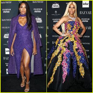 Ciara & Nicki Minaj Work the Harper's Bazaar Red Carpet!