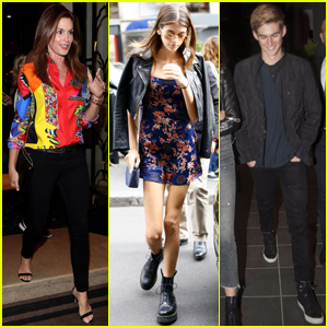 Cindy Crawford Jet Sets to Paris With Kids Kaia & Presley Gerber!
