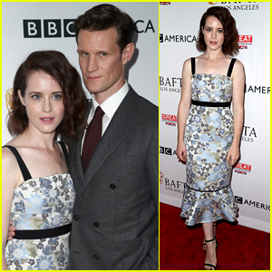 The Crown's Claire Foy & Matt Smith Attend BAFTA's Pre-Emmys Tea Party