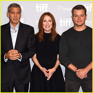 George Clooney, Julianne Moore & Matt Damon Team Up for 'Suburbicon' Press Conference at TIFF 2017!
