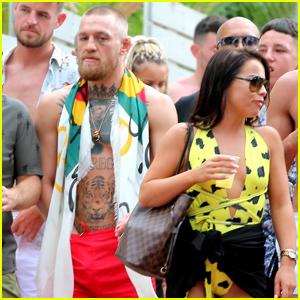 Conor McGregor & Girlfriend Dee Devlin Hit Ibiza With a Major Posse!