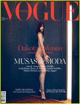 Dakota Johnson Covers 'Vogue Spain' in a Bedazzled Bodysuit!