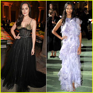 Dakota Johnson & Zoe Saldana Wear Sustainable Looks at Green Carpet Fashion Awards!