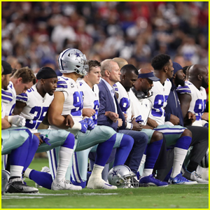 Entire Dallas Cowboys Team Takes a Knee Before National Anthem - Watch Now