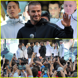 David Beckham Opens Massive Adidas Store in Milan!