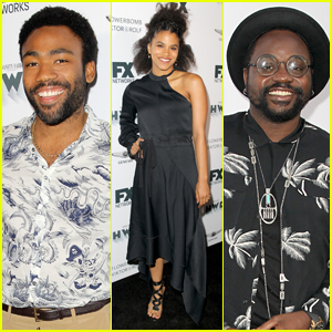 Donald Glover Joins 'Atlanta' Co-Stars at FX's Pre-Emmy Party