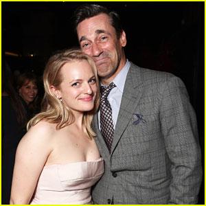 Elisabeth Moss & Jon Hamm Have Mini 'Mad Men' Reunion at Emmys After Party!