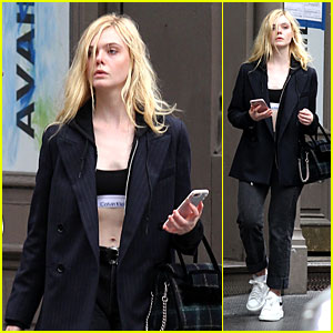 Elle Fanning Shows Off Her Midriff While Strolling Around NYC!