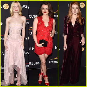 Elle Fanning, Maisie Williams & Katherine McNamara Step Out at TIFF's HFPA Bash!
