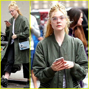 Elle Fanning Takes a Casual Stroll Around New York