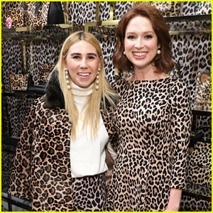 Ellie Kemper & Zosia Mamet Buddy Up at Kate Spade New York Leopard Pop-Up Shop!