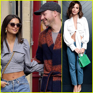 Emily Ratajkowski Has Boyfriend Jeff Magid By Her Side for Paris Fashion Week!