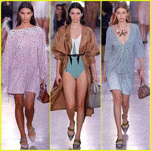 Emily Ratajkowski, Kendall Jenner, Gigi Hadid & More Walk in Bottega Veneta Presentation