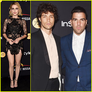 Zachary Quinto & Partner Miles McMillan Attend TIFF's Star-Studded HFPA Bash!