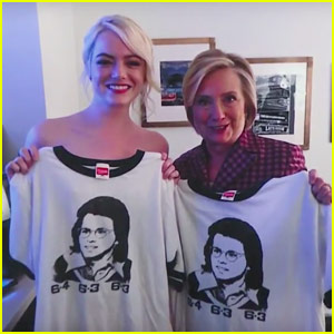 Emma Stone Had a Funny Photo Fail in Picture with Hillary Clinton!