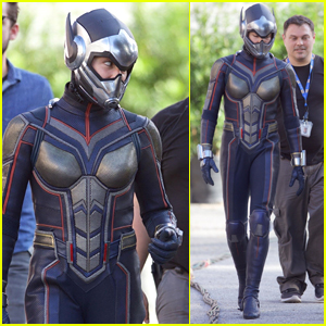 Evangeline Lilly Suits Up as The Wasp on Set of 'Ant-Man' Sequel!