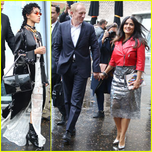 FKA Twigs & Salma Hayek Check Out Christopher Kane Fashion Show!