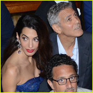 George & Amal Clooney Couple Up For Dinner in Venice!