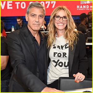 George Clooney & Julia Roberts Reunite at Hand in Hand Benefit