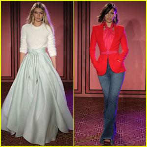 Gigi & Bella Hadid Model Chic Looks for Brandon Maxwell's NYFW Show!